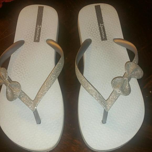 0cff88fa1 Ipanema Shoes - Ipanema Silver Sparkly Flip Flop Sandal